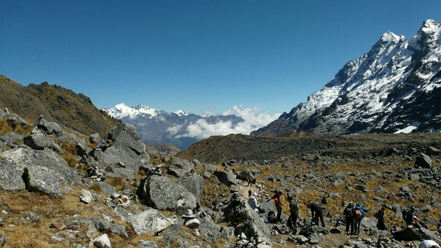 Salkantay trek - montagne du salkantay - machu picchu - Pérou