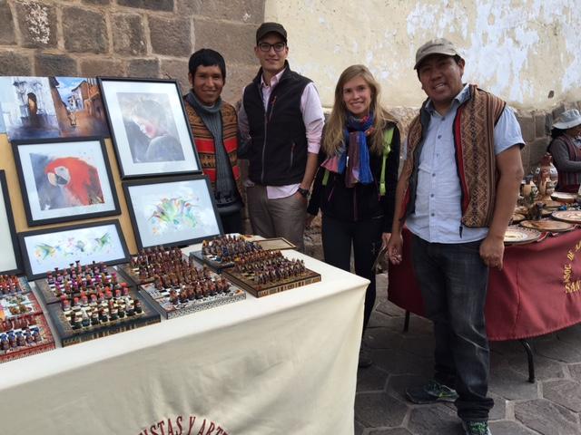 Herberth aquarelles - marché artisanal San Blas - Cusco - Pérou