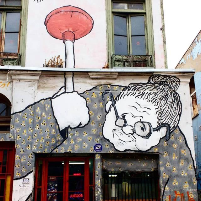 Valparaiso - street art graffiti - Ella & Pitr - Chile