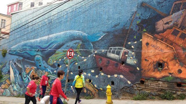 Valparaiso - street art graffiti - Causa - Chile