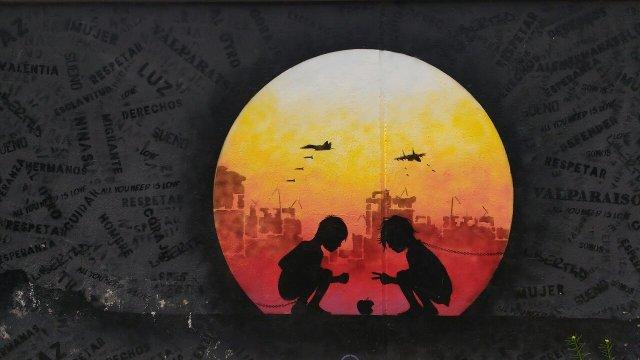 Valparaiso - street art graffiti - Otto Schade - Chile